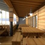 Интерьер кафе в горнолыжном комплексе «Гора Белая»